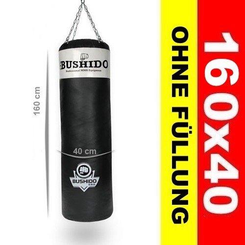 meistverkauft Outlet-Store außergewöhnliche Auswahl an Stilen BUSHIDO Profi Boxsack ohne Füllung 160 x 40 Schwarz / Weiß